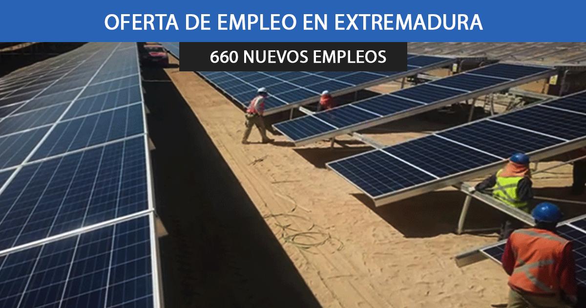 6 plantas fotovoltaicas en Extremadura
