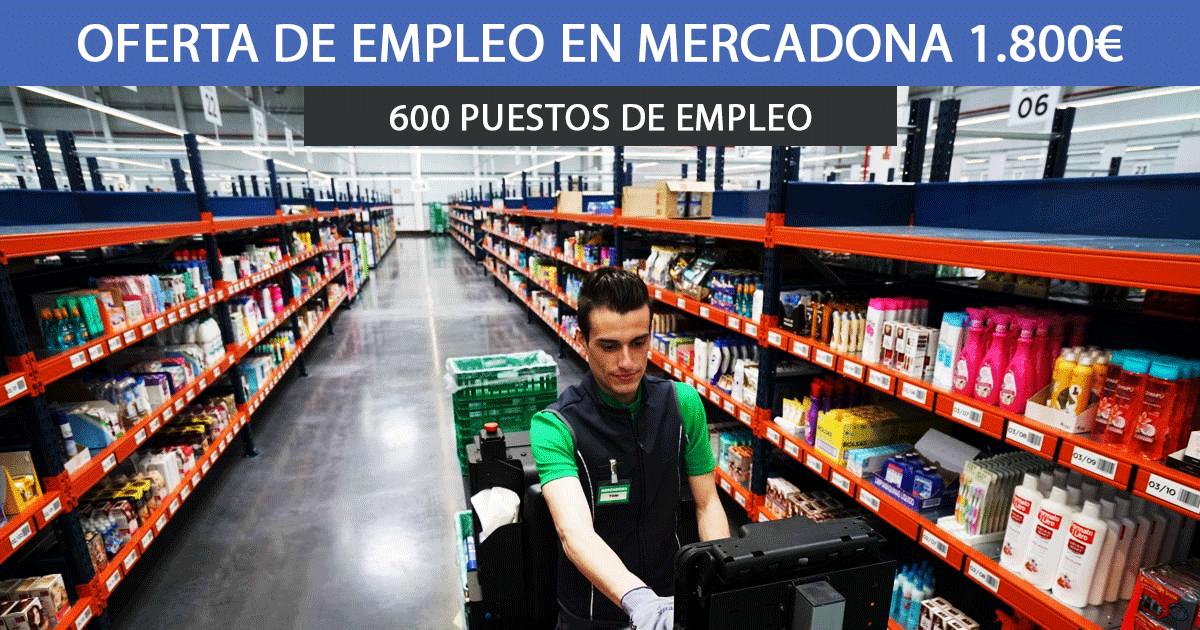 Mercadona 600 empleos