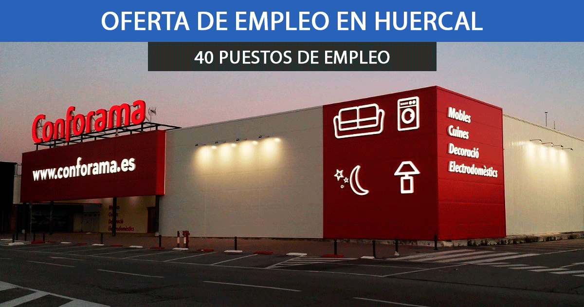 Se necesitan 40 trabajadores en Huércal para el nuevo establecimiento de Conforma