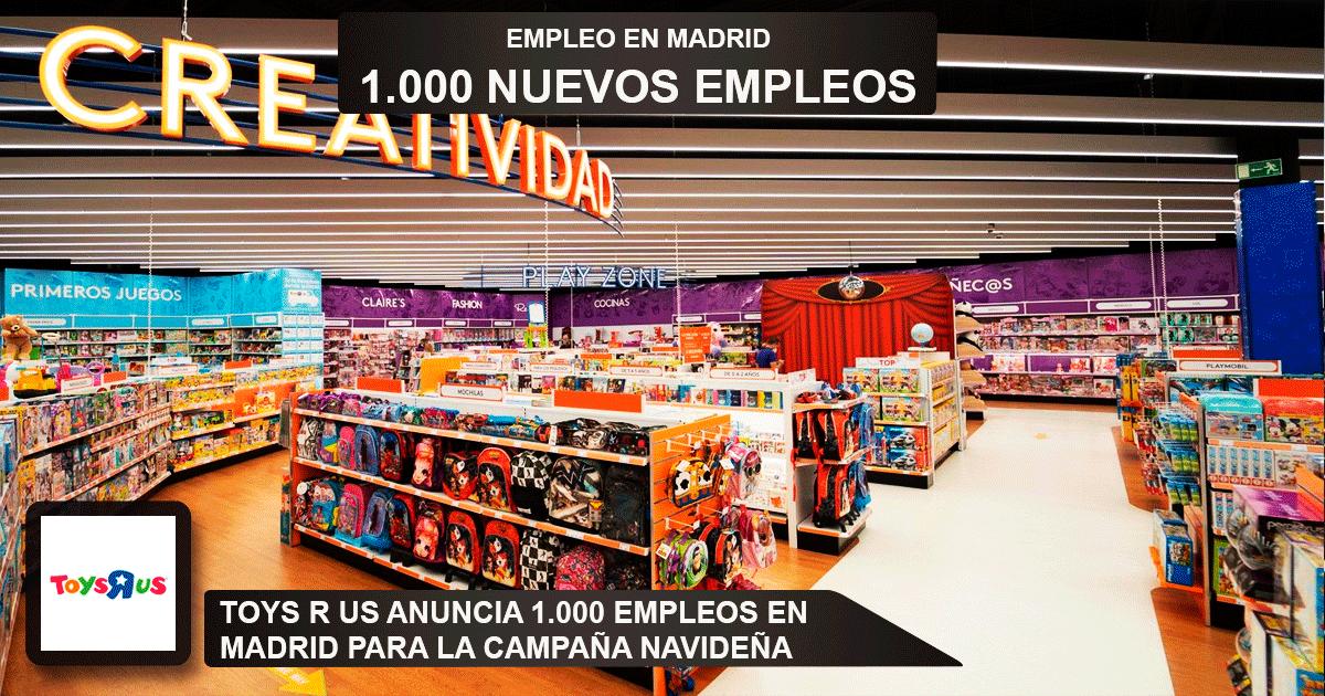 """1000 desempleados en Madrid para trabajar en Toys""""R""""Us"""