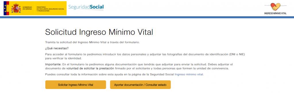 Como pedir ingreso mínimo vital por internet