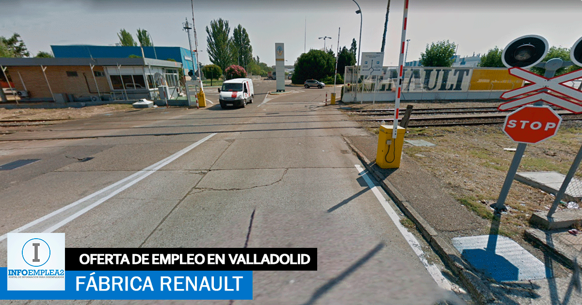Se necesita 30 Operarios/as en Valladolid para Fábrica Renault