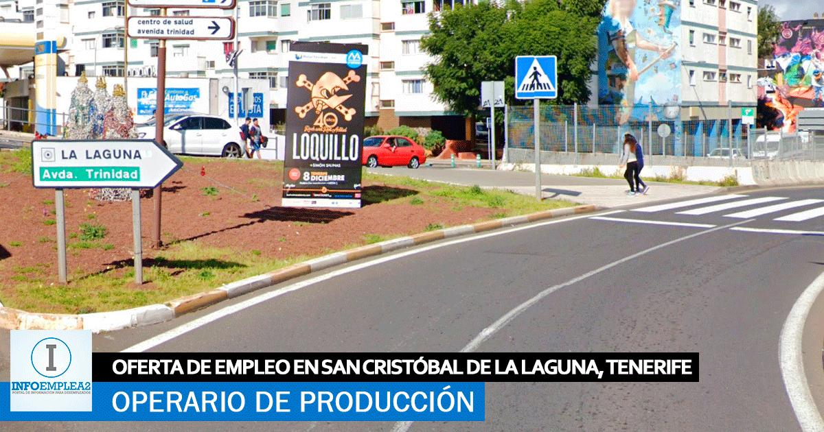 Operario Industrial de Alimentación en Santa Cruz de Tenerife