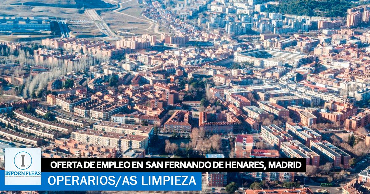 Se necesitan Operarios/as de Limpieza en San Fernando de Henares,