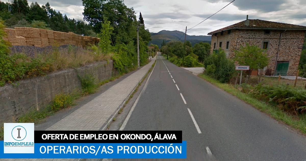 Se necesita Operarios/as de producción para Fábrica en Okondo, Álava