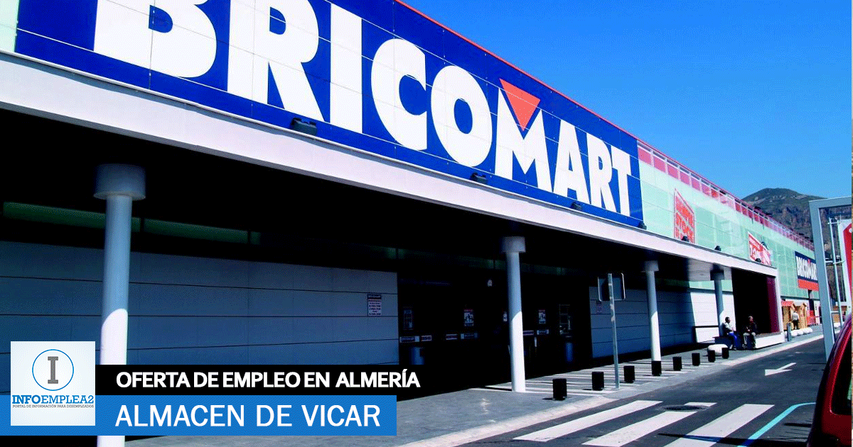 Se necesita Personal para BricorMart de Vícar, Almería