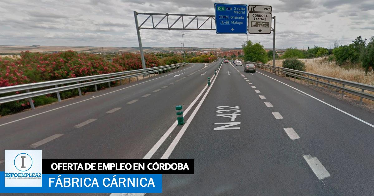 Se necesita Personal para Fábrica Cárnica en Córdoba