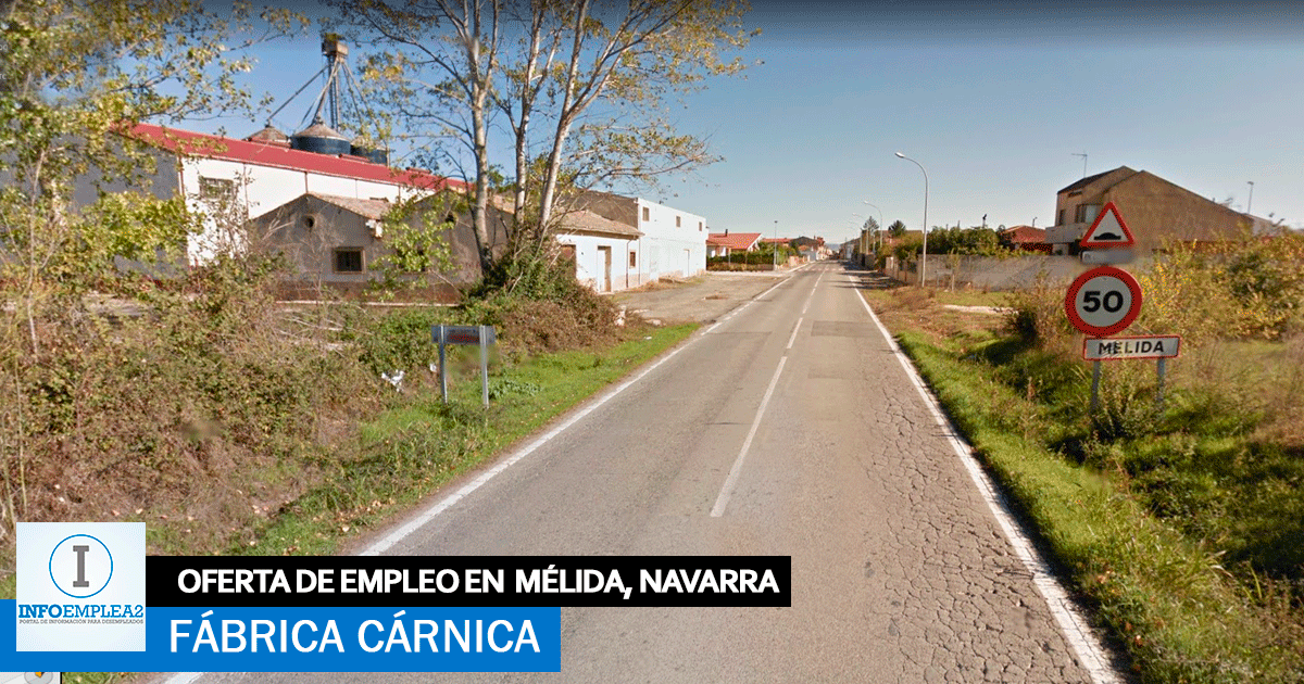 Se necesita Personal para Fábrica Cárnica en Mélida, Navarra