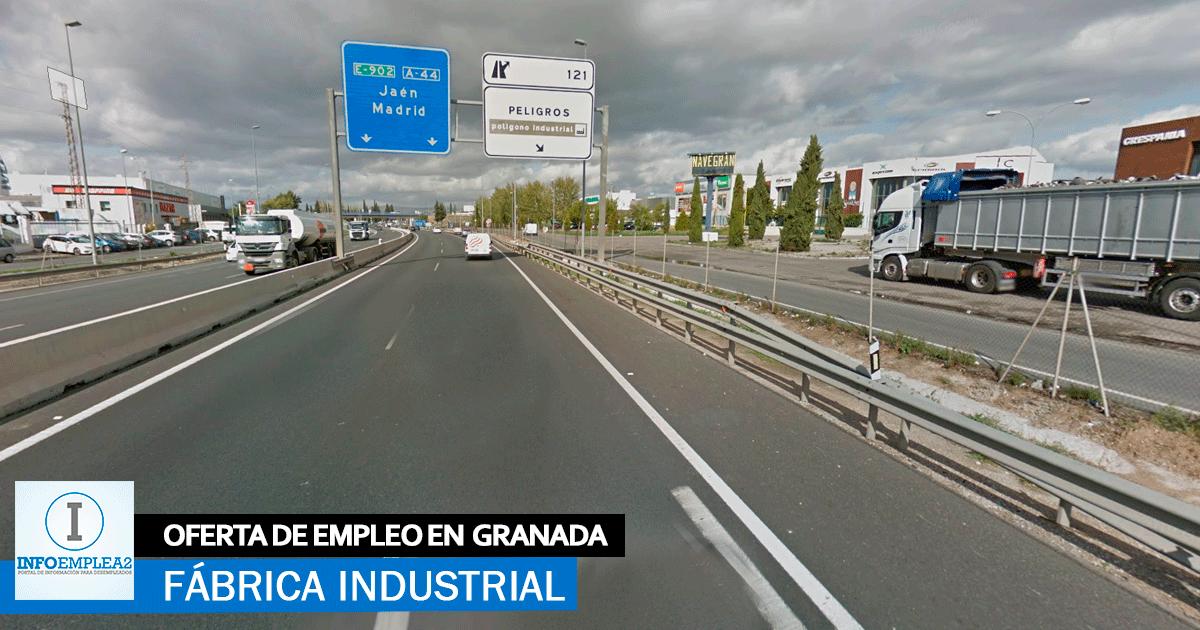 Se necesita Personal para Fábrica Industrial en Granada