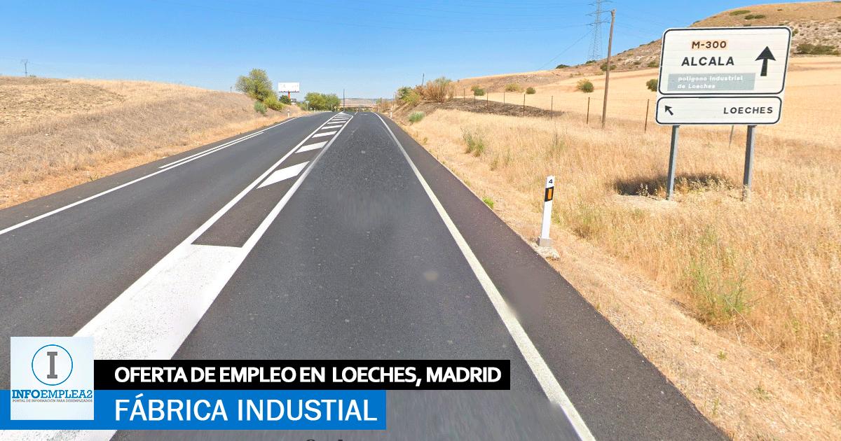 Se necesita Personal para Fábrica Industrial en Loeches, Madrid