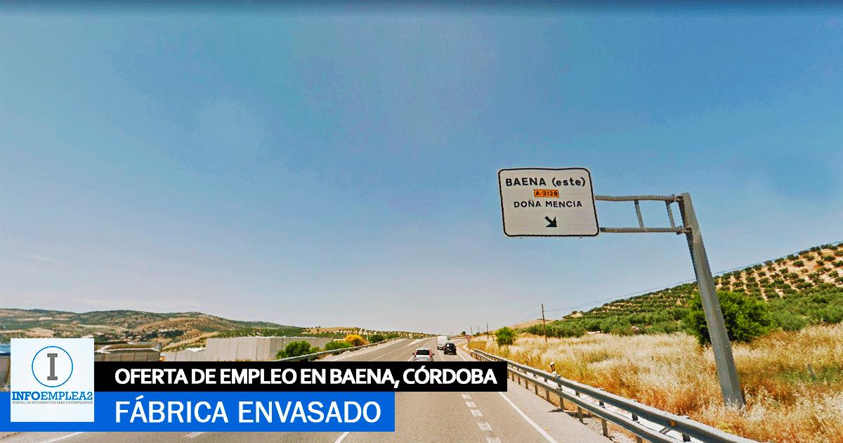 Se necesita Personal para Fábrica de Envasado en Baena, Córdoba