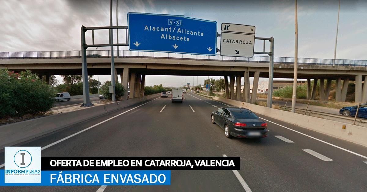 Se necesita Personal para Fábrica de Envasado en Catarroja, Valencia