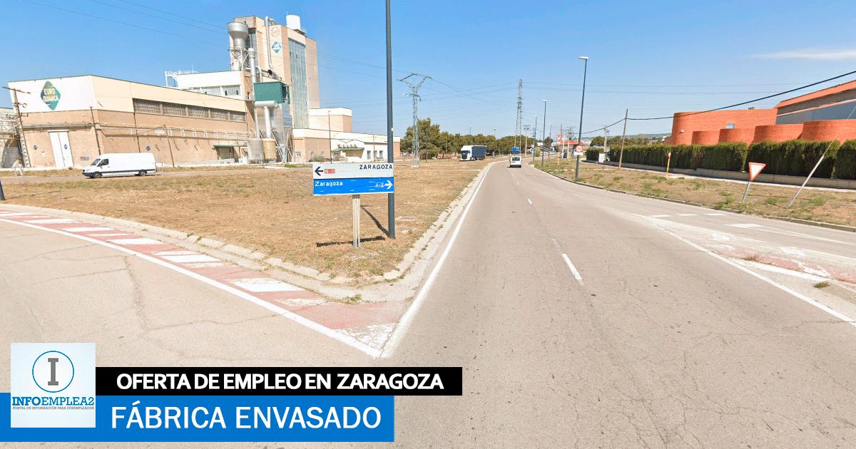 Se necesita Personal para Fábrica de Envasado en Zaragoza