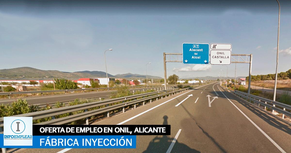 Se necesita Personal para Fábrica de Inyección en Onil, Alicante
