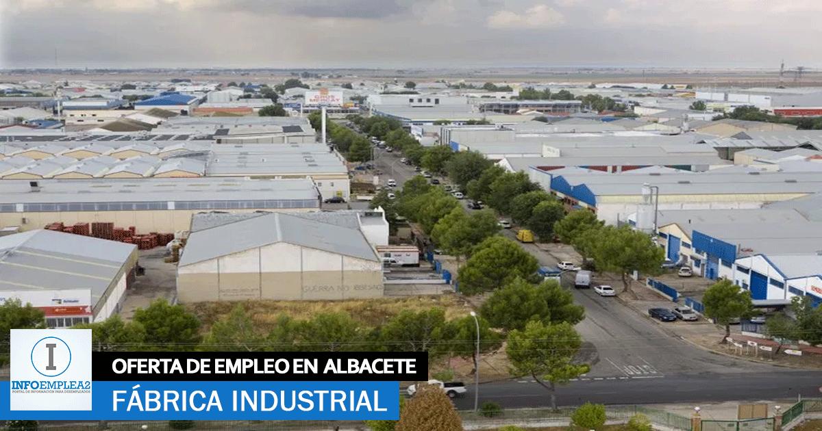 Se necesita Personal para Fábrica de Plásticos en Albacete