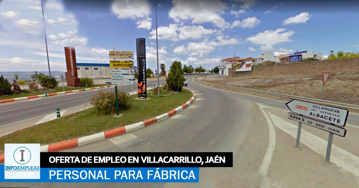 Se necesita Personal para Fábrica en Villacarrillo, Jaén