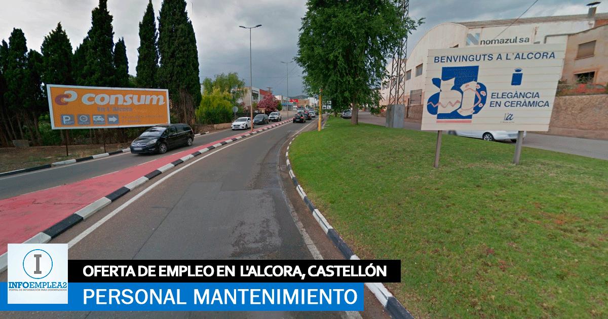 Se necesita Personal para Mantenimiento en Alcora, Castellón