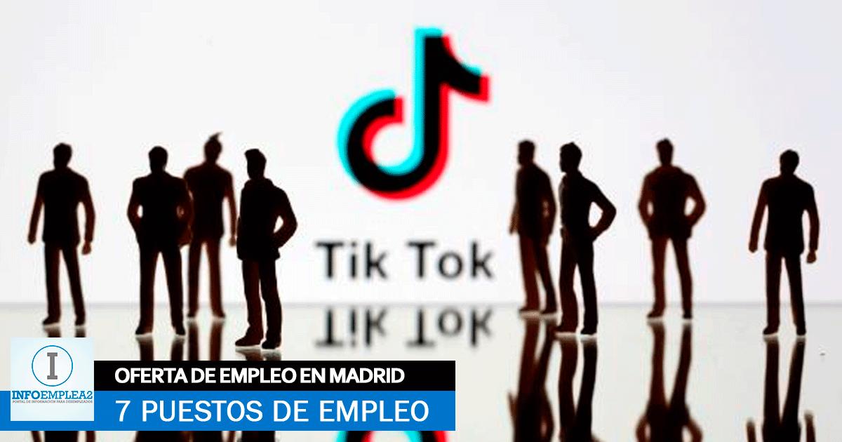 trabajar en TikTok Madrid