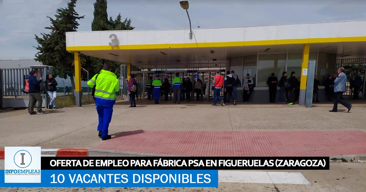 Se Necesita Personal en Figueruelas (Zaragoza) para Trabajar en PSA.