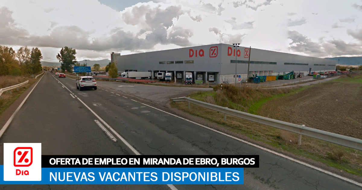 Se necesita Personal para Centro Logístico DIA en Miranda de Ebro, Burgos