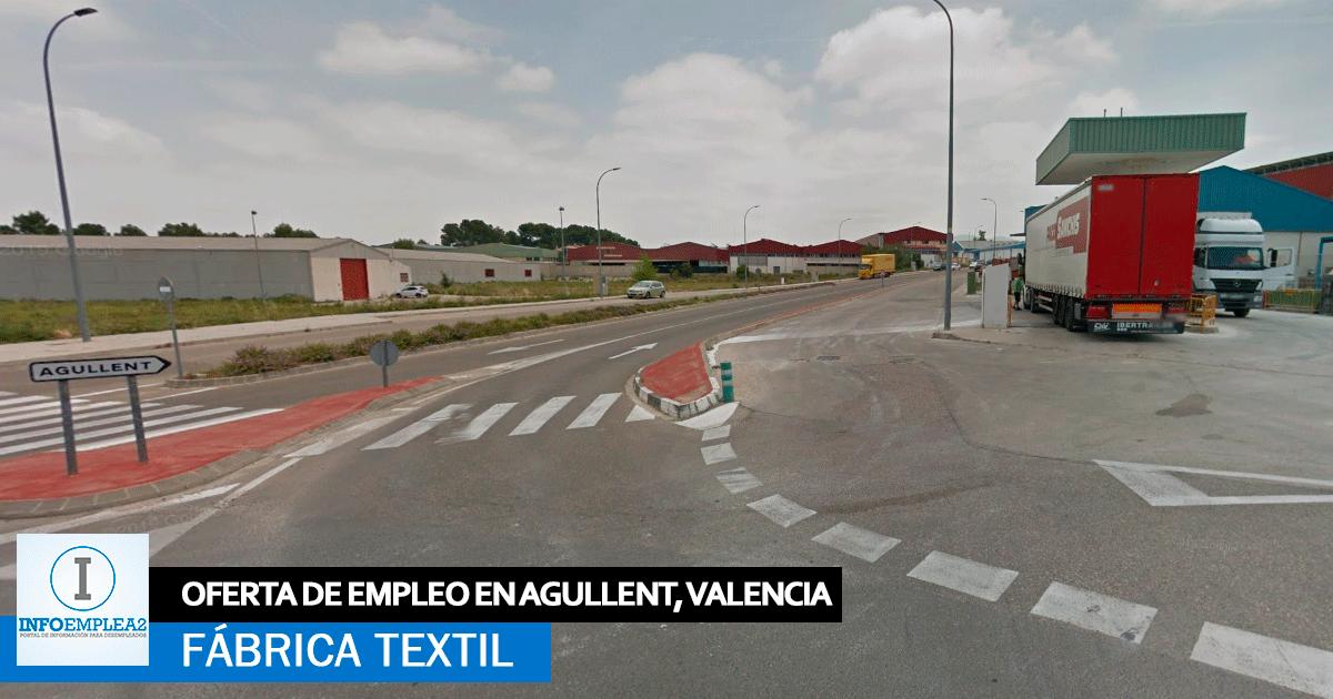 Se necesita Personal para Fábrica Textil en Agullent, Valencia