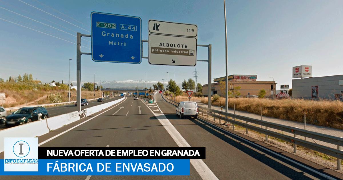 Se necesita Personal para Fábrica de Envasado en Granada