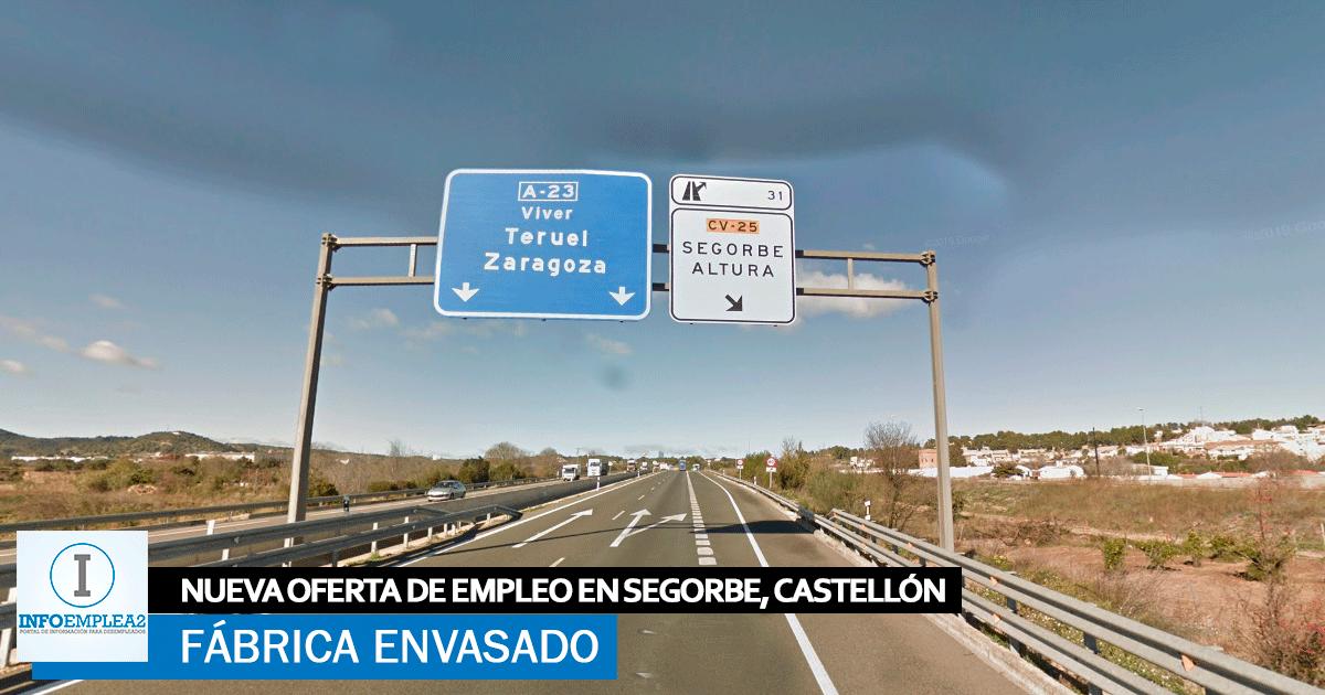Se necesita Personal para Fábrica de Envasado en Segorbe, Castellón