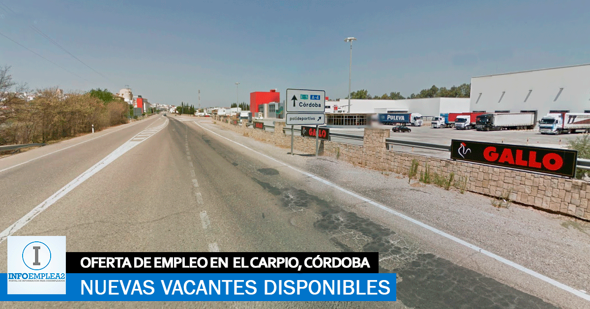Se necesita Personal para Fábrica de Pasta en El Carpio, Córdoba