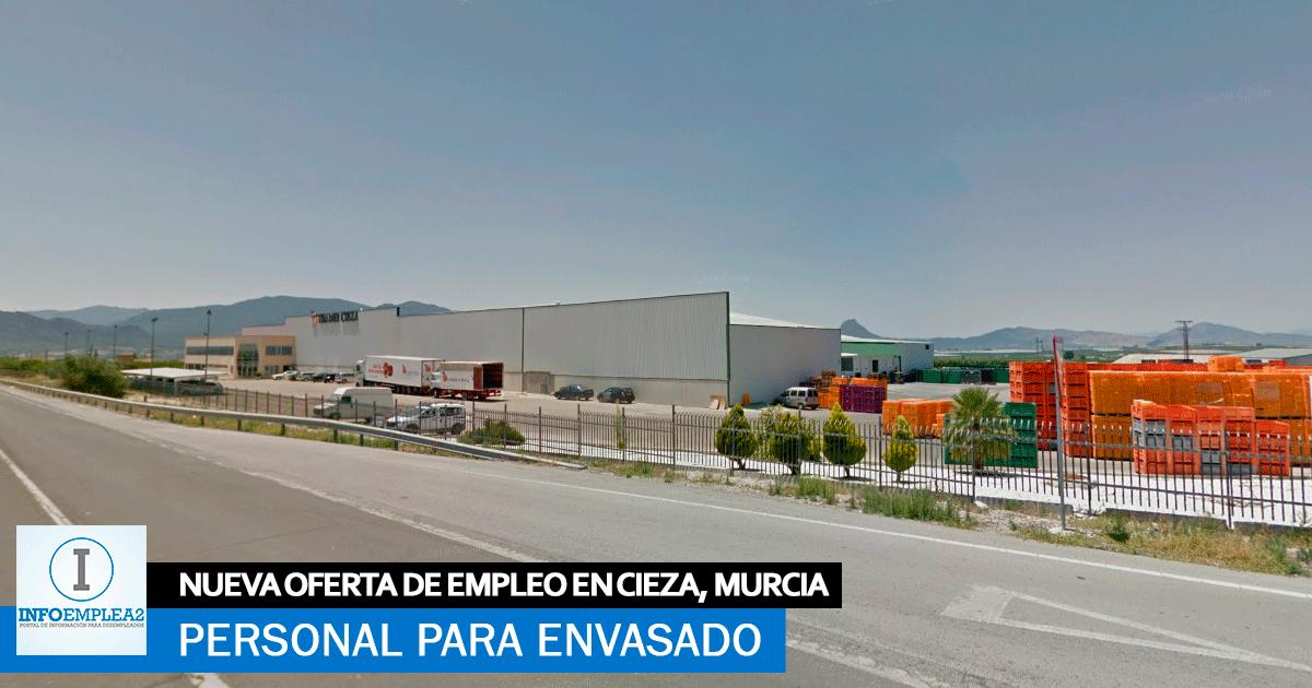 Se necesita Personal para Fábrica de envasado en Cieza, Murcia