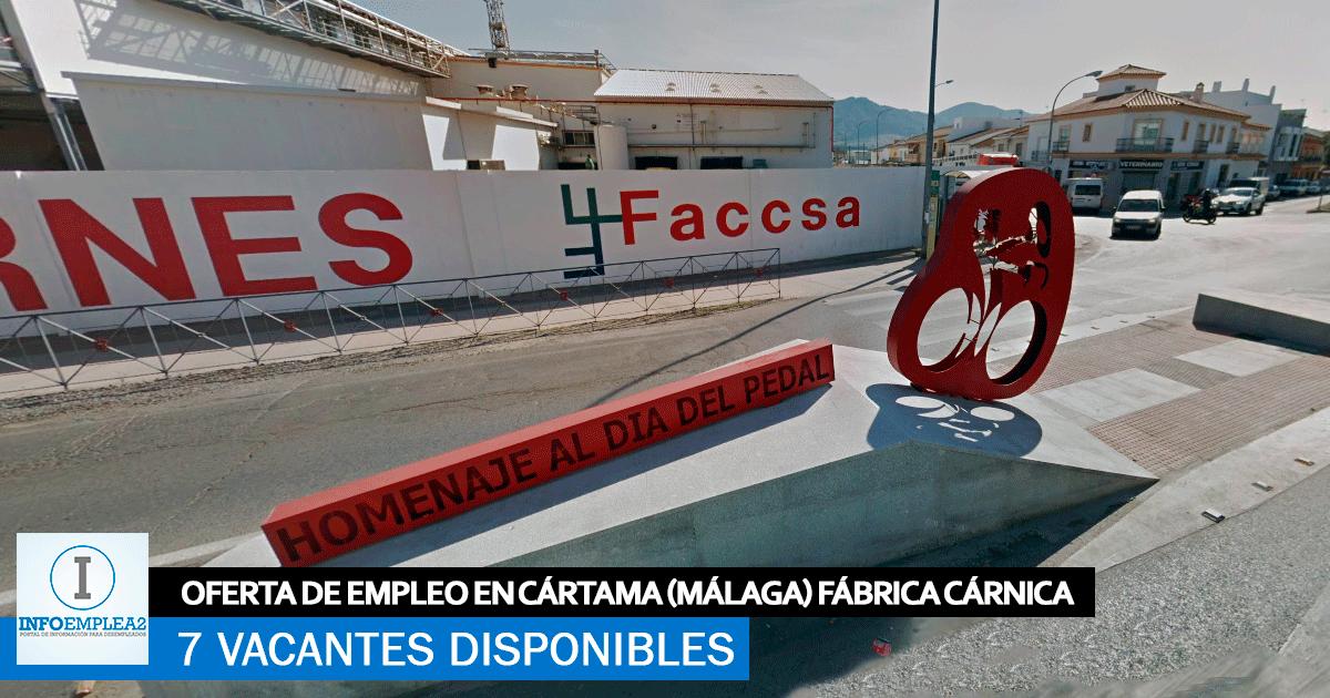 Se necesitan 7 Trabajadores en Cártama (Málaga) para Fábrica Cárnica