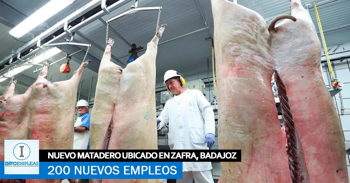 200 empleos directos se crearán en el matadero de Zafra