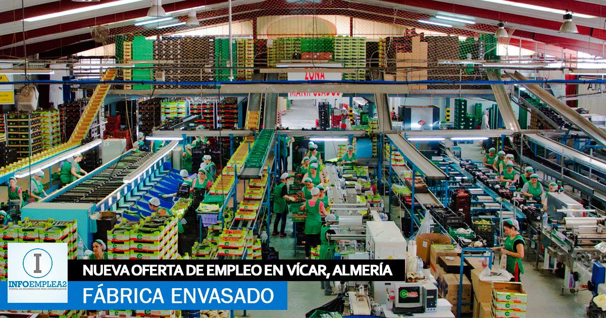 Se Necesita Personal para Fábrica de Envasado en Vícar