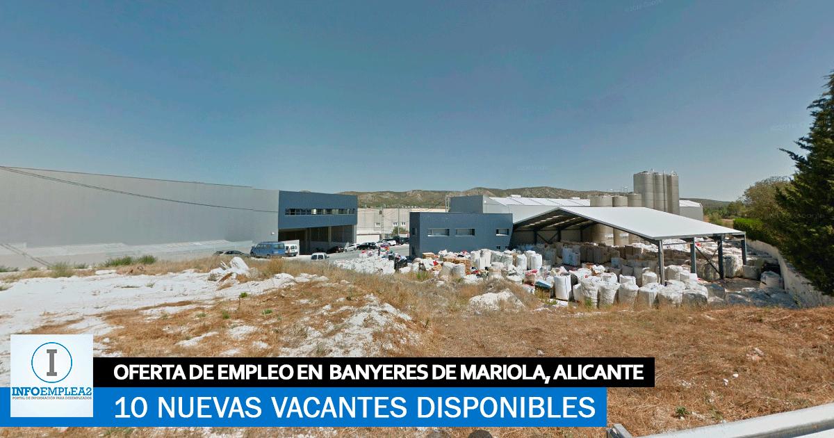 Se Necesita Personal para Fábrica de Plásticos en Banyeres de Mariola, Alicante