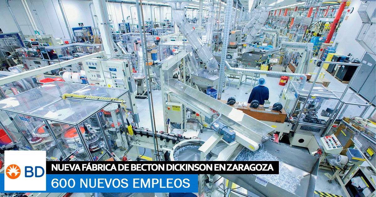 Se Necesitan 600 Trabajadores para la Nueva Fábrica de Becton Dickinson en Zaragoza