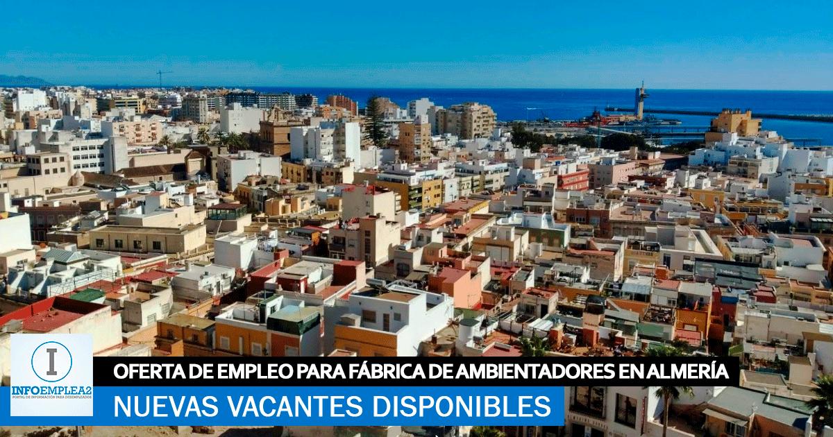 Se necesita Personal para Fábrica de Ambientadores en Almería