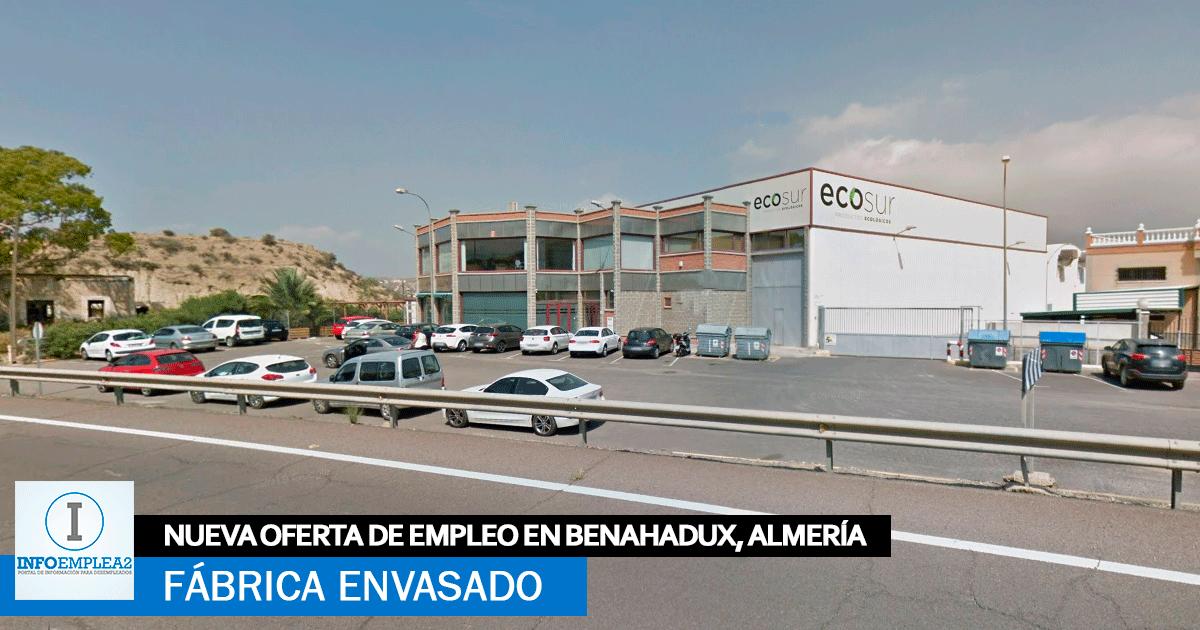 Se necesita Personal para Fábrica de Envasado en Benahadux, Almería