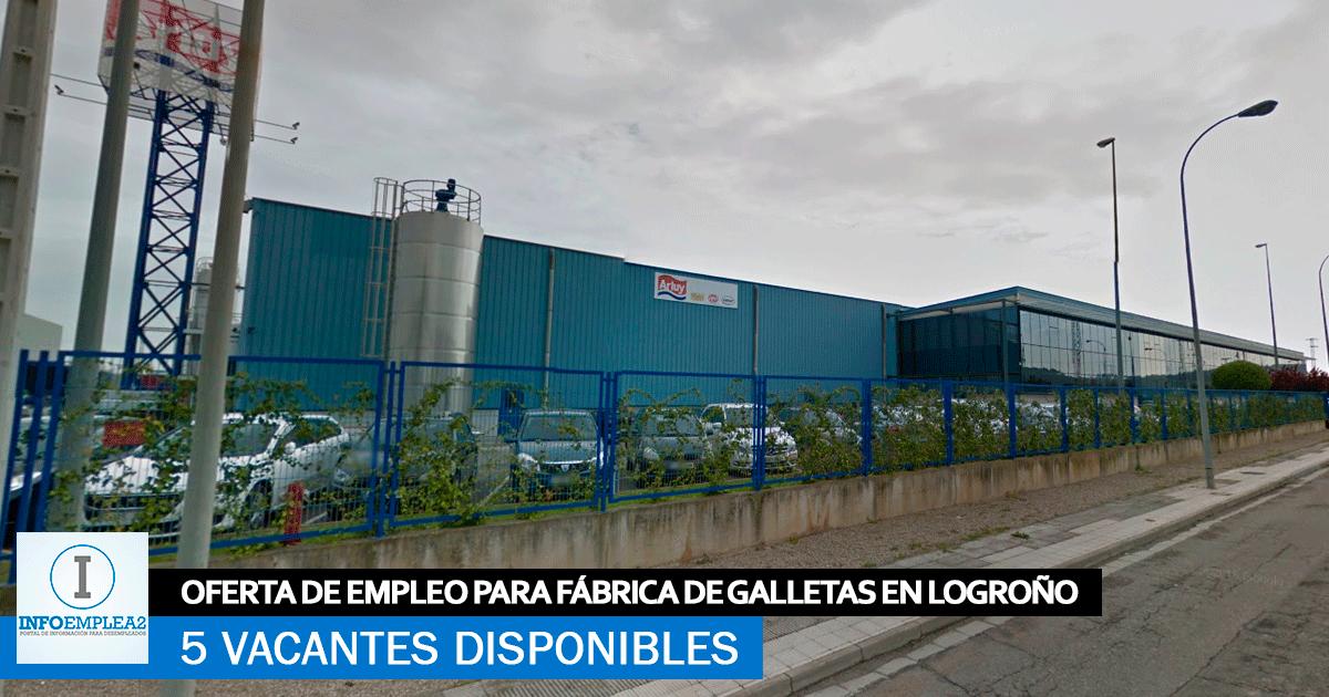 Se necesita Personal para Fábrica de Galletas en Logroño