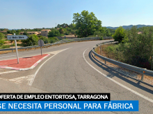 Se necesita Personal para Fábrica en Tortosa, Tarragona