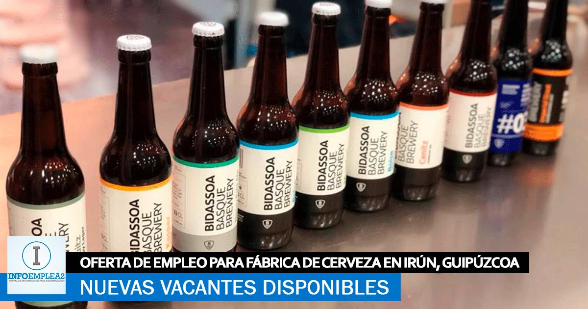 Se necesita Personal para Línea de Envasado en Irún, Guipúzcoa