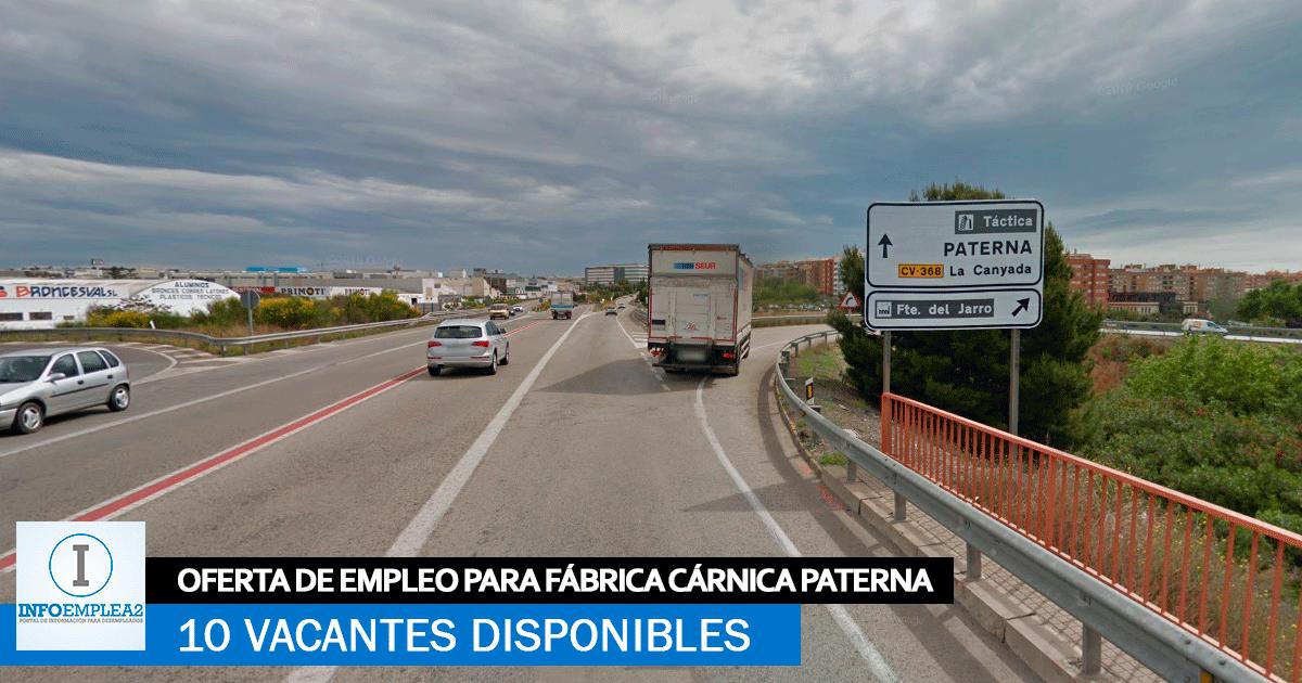 Se necesitan 10 Trabajadores en Paterna para Fábrica Cárnica