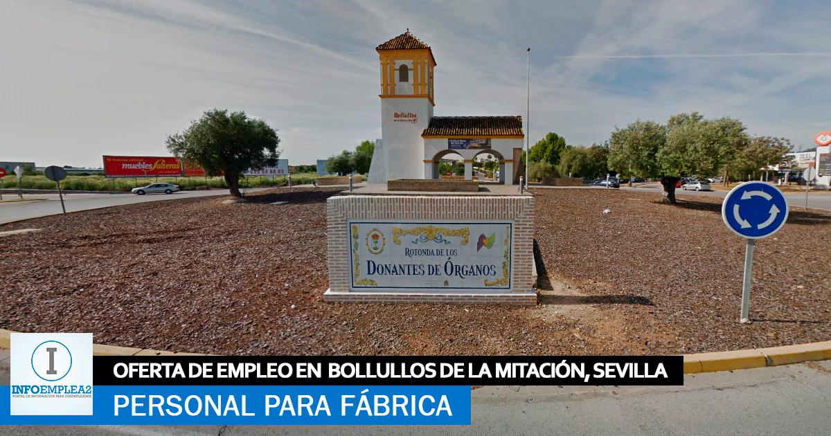Se necesitan Operarios para Fábrica en Bollullos de la Mitación, Sevilla