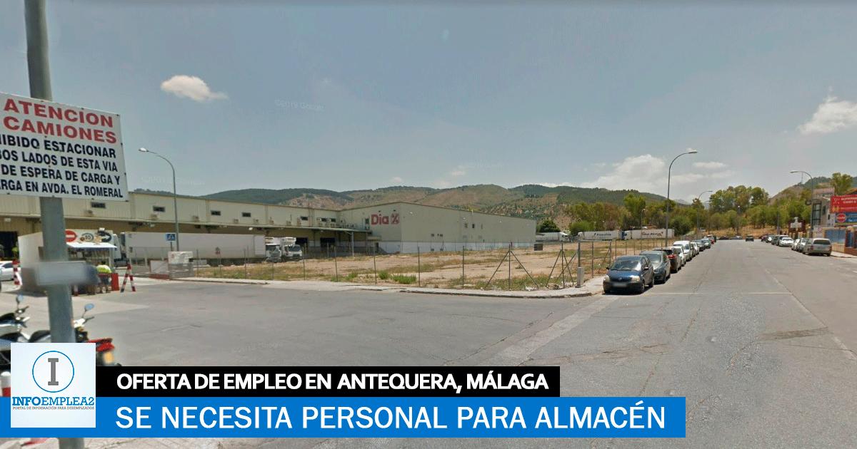 Se necesitan Personal para Almacén en Antequera, Málaga