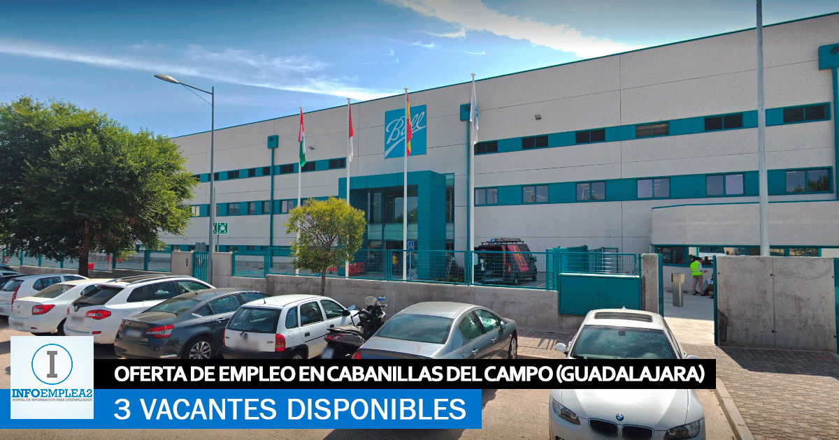 Se Necesitan Personal en Cabanillas del Campo (Guadalajara) para la Fábrica Ball Beverage