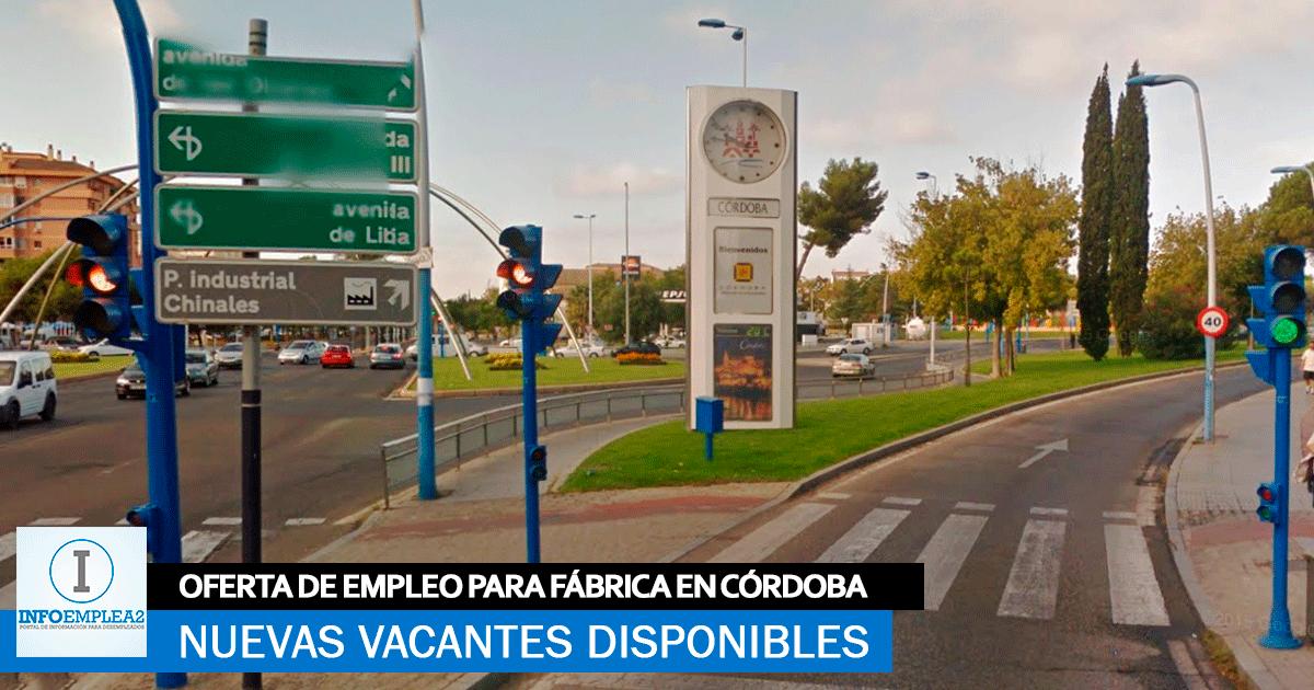 Se Necesita Personal en Córdoba para Trabajar en Fábrica