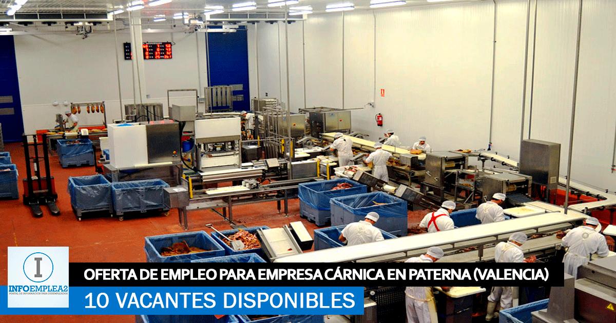 Se Necesita Personal en Paterna (Valencia) para Fábrica Cárnica