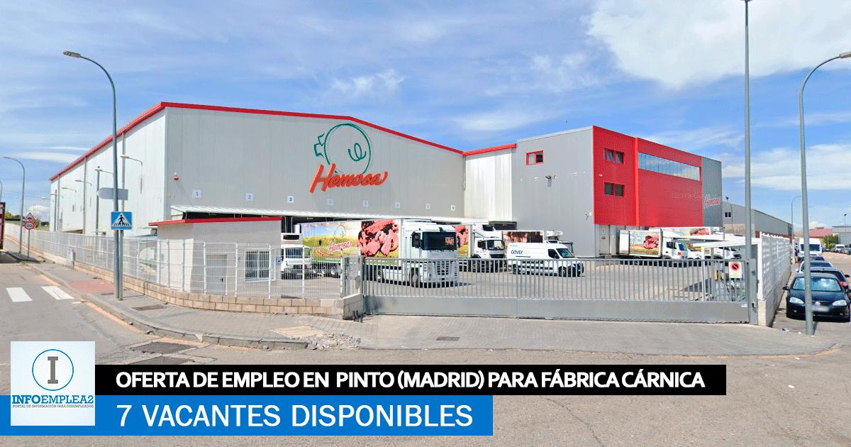 Se Necesita Personal en Pinto (Madrid) para Fábrica Cárnica