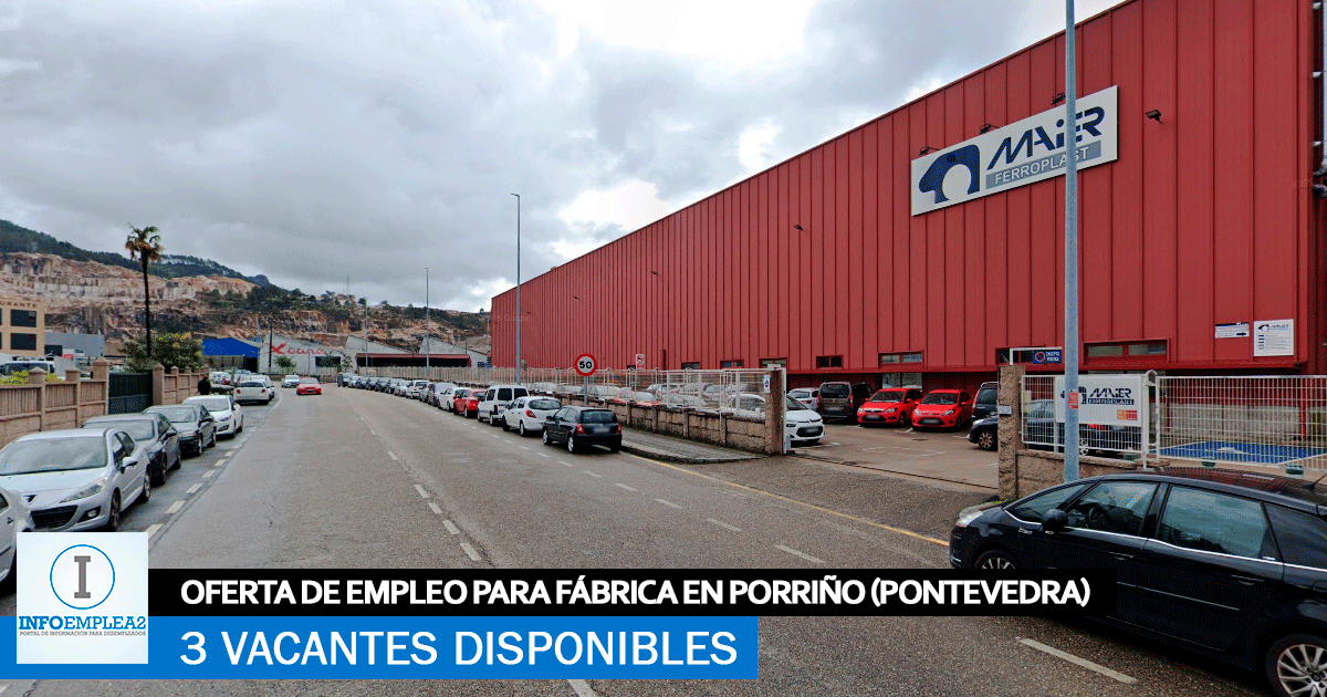 Se Necesita Personal en Porriño (Pontevedra) para Fábrica Automoción