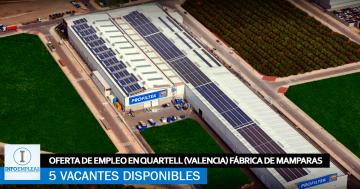 Se Necesita Personal en Quartell (Valencia) para Fábrica de Mamparas