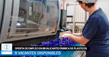 Se Necesitan 8 Operarios de Inyección en Ibi (Alicante) para Trabajar en Fábrica