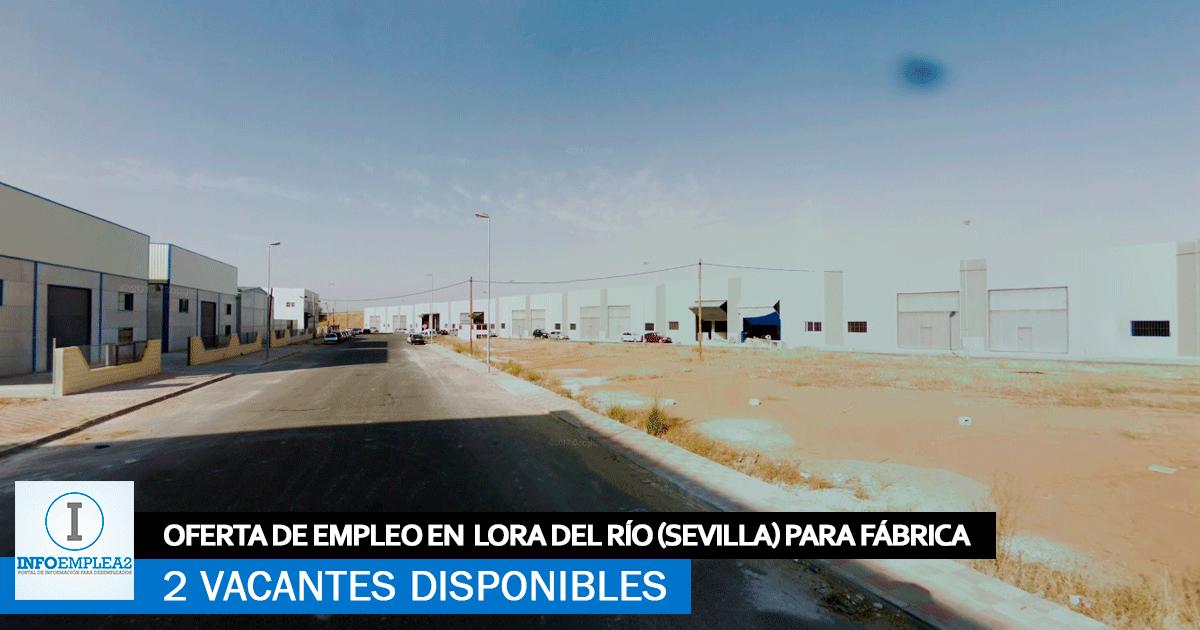 Se Necesitan Personal en Lora del Río (Sevilla) Fábrica de Plásticos